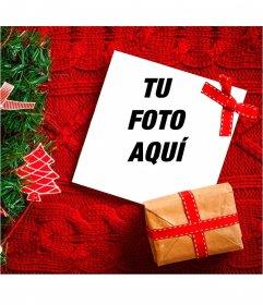 Collage navideño con un árbol y un jersey