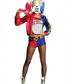 Disfraz online del personaje Harley Quinn de Suicide Squad para editar