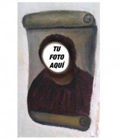 Fotomontaje de la restauración del Ecce Homo, (Cristo De Borja) para hacer con tu foto