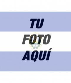 Fotomontaje de la bandera de El Salvador, para tu foto de perfil.