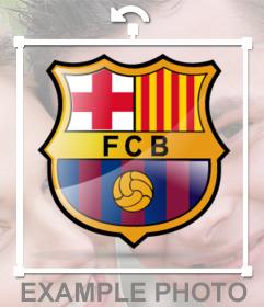 Felicitaciones De Navidad Del Fc Barcelona.Escudo Del Fc Barcelona Para Poner En Tu Foto Fotoefectos