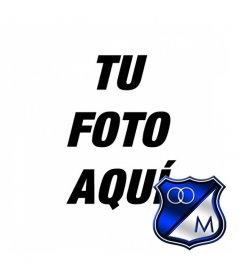Fotoefecto para poner tu foto junto con el escudo del equipo de fútbol Millonarios