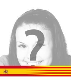 Bandera de Cataluña y España fundidas juntas para foto de perfil