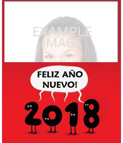 Los números 2017 felicitando el año con este fotomontaje de año nuevo