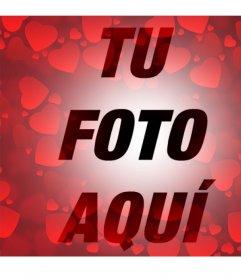 Filtro con muchos corazones rojos para añadir a tus fotos