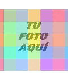 Filtro fotográfico online con cuadros de múltiples colores diferentes para colorear tus imágenes de una forma muy divertida y diferente.