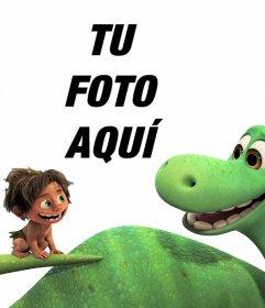 Fotomontaje de la película Un Gran Dinosaurio para hacer con tu foto