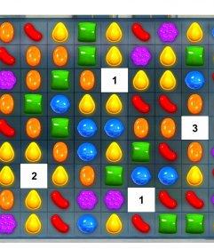 Divertido collage para añadir cuatro fotos en el juego Candy Crush