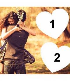 Demuestra tu amor por alguien con este fotomontaje para dos fotos