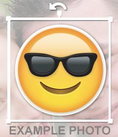 Emoji de whatsapp con las gafas de sol para pegar en tus imágenes