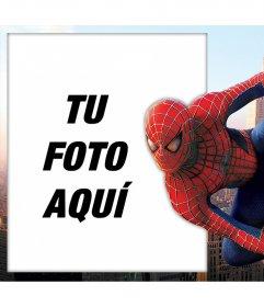 Foto efecto con Spiderman para editar con tu foto gratis