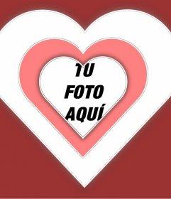 Foto cuadro de amor para añadir tu foto dentro de un corazón con efecto vibrante