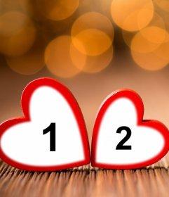 Dos corazones para subir dos fotos