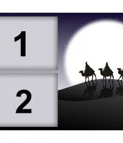 Foto collage con los Tres Reyes Magos que puedes modificar con tus fotos