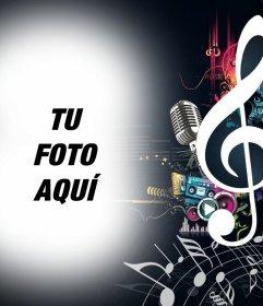 Fotomontajes de música y notas musicales para subir tu foto