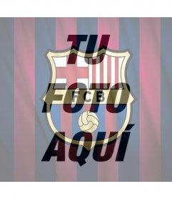 Fotomontaje del escudo del FC Barcelona para tu foto