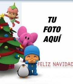 Pocoyo celebra la Navidad con este fotomontaje para tu foto