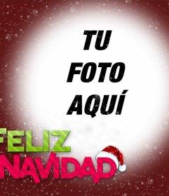 Fotomontaje de Feliz Navidad para subir tu foto.