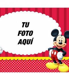 Fotomontaje con Mickey y Minnie para subir tu foto favorita