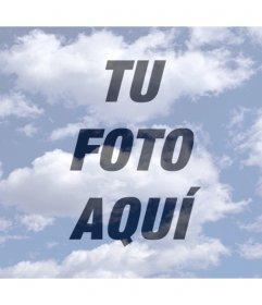 Fotomontaje de Nubes para poner encima de tu foto