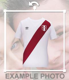 Ponte la camiseta oficial del equipo de fútbol de Perú con este montaje