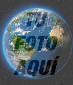 Fotomontaje del Planeta Tierra para poner en tu foto de perfil