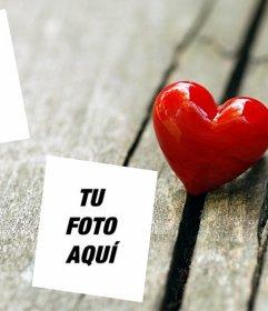 Fotomontaje de amor para poner dos fotos con un corazón