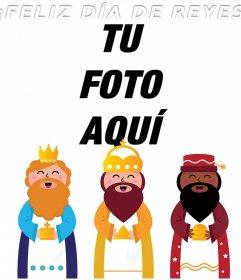 Fotomontaje de Feliz Día de Reyes para subir tu foto