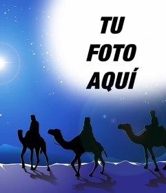 Fotomontaje de los tres Reyes Magos para subir tu foto