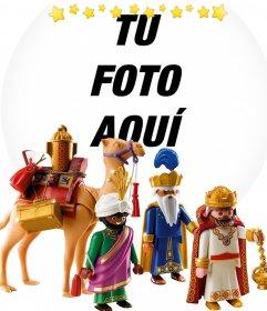 Fotomontaje de Reyes Magos con los playmobil para tu foto