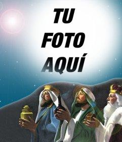 Fotomontaje de los Tres Reyes Magos para tu foto de perfil