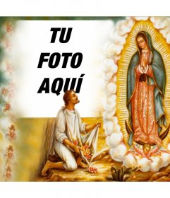 Fotomontaje de la Virgen de Guadalupe para tu foto