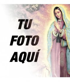 Fotomontaje para subir tu foto con la Virgen de Guadalupe