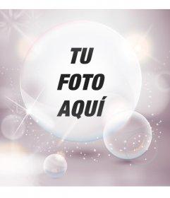 Imagen de perfil con burbujas y destellos de luces blancas para personalizar tu avatar de facebook y twitter