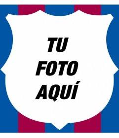Personaliza tu foto con el escudo del Barça de borde con su forma y colores