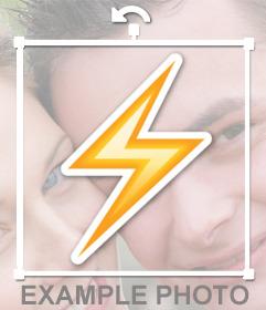 Pega un rayo en tus fotos como un sticker decorativo con este efecto