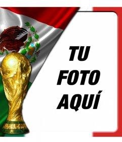 Fotomontaje con la bandera de México para poner como foto de perfil