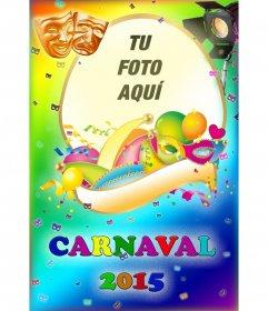 Fotomontaje cartel Carnaval 2015 con tu foto