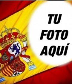 Fotomontaje para poner tu foto en el fondo de la bandera de España