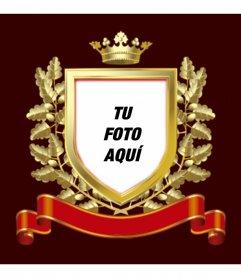 Fotomontaje Escudo Dorado