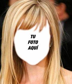 Fotomontaje para cambiar de peinado online y ser rubia pelo largo