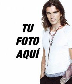 Quieres poner tu foto junto a Juanes? Es muy sencillo solo sube una foto y genera un fotomontaje para poner de foto de perfil etc