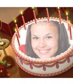 Pon tu foto en una tarta de cumpleaños con este montaje online
