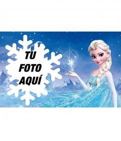 Fotomontaje con Elsa de Frozen