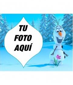 Collage con Olaf de Frozen