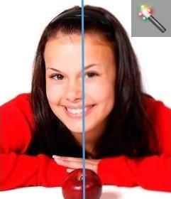Puedes aplicar este filtro para imágenes gaussian blur, que da un aspecto borroso a tu fotografía