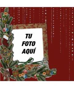 Tarjeta con motivos navide os y brillantes para poner tu - Tarjetas con motivos navidenos ...