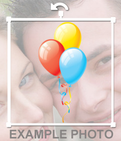 Sticker de globos de colores para decorar fotos de cumpleaños.
