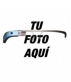 Fotomontaje como si llevaras puesta unas gafas Google Glass