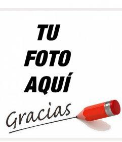 Firma tus fotos con la palabra Gracias con este montaje online